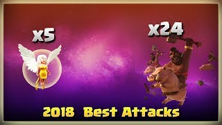 5 Healer + 24 Hogs Smashing TH11 | TH11 War Strategy #219 | After Update | COC 2018 |