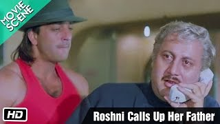 Roshni Calls Up Her Father - Movie Scene - Gumrah - Anupam Kher, Sridevi, Sanjay Dutt