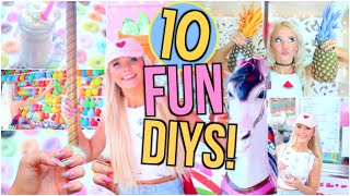 10 FUN Summer DIY Project Ideas You NEED To Try!