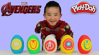 Marvel Avengers Play-Doh Surprise Eggs Opening Fun With Iron Man Kids Surprise Toys Ckn Toys
