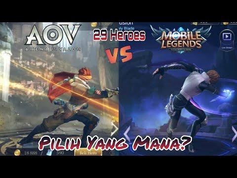 ARENA OF VALOR vs MOBILE LEGENDS || 29 HERO Side by side_INSPIRASI atau PLAGIAT? #1