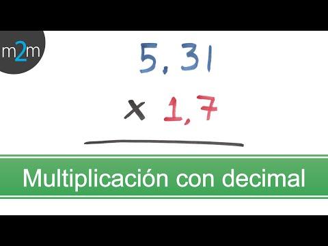 Multiplicación de números con punto decimal