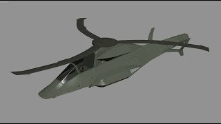 Stingbat LHX Stealth Helicopter Concept