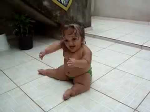 Chubby Baby Does Weird Tile Slide REMIX