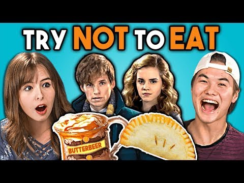 Try Not To Eat Challenge Harry Potter Food Teens & College Kids Vs. Food