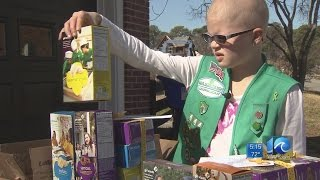 Girl looks to spread hope at CHKD through Girl Scout Cookies