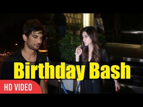 Sushant Singh Rajput And Kriti Sanon At Rohini Iyer's Late Night Birthday Party | Birthday Bash