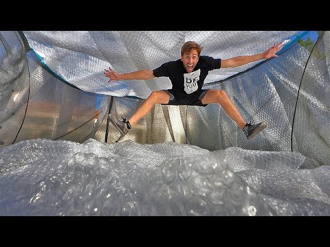 Entire trampoline BUBBLE WRAPPED 300ft