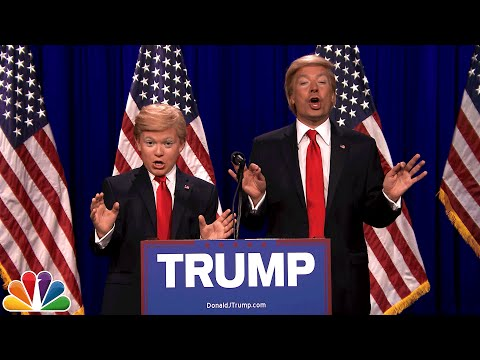 Donald Trump and Little Donald 8th Grade Impressionist