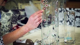 How to Embellish a Glass Vase Arts & Crafts Tutorial