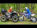 Я vs ПАПА...КВАДРИК vs МОТОЦИКЛ...ATV vs MOTORCYCLE ...