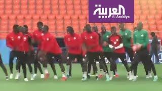روسيا2018   لاعبو السنغال يستعدون لمواجهة اليابان على طريقتهم الخاصة في المونديال