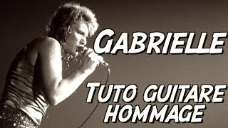 Johnny Hallyday - Gabrielle - Hommage Tuto Guitare acoustique