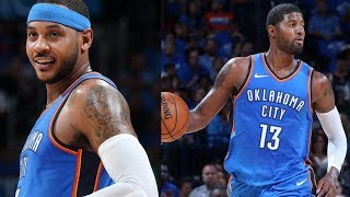 Carmelo Anthony, Paul George Thunder Debut! Westbrook Triple Double! Knicks vs Thunder