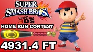 Smash 4 3DS - Home Run Contest - 4931.4 ft. - Ness - Nitrosonic0