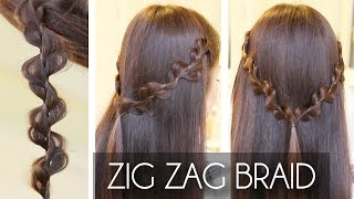 Zig Zag / Rick Rack Braid Hair Tutorial   Hairstyles