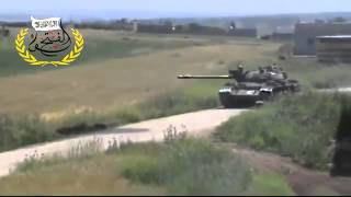 FSA Using A Tank To Defend Their Area