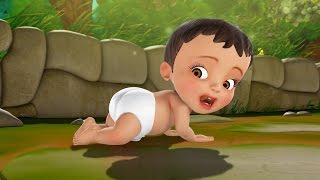 சின்னப் பாப்பா வீதியில் | Tamil rhymes for Children | Infobells