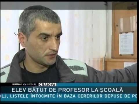 ELEV BĂTUT DE PROFESOR LA ŞCOALĂ