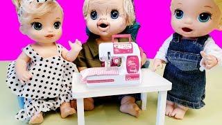 Anneanne Baby Alive Lily Blonde Oyuncak Bebeklere Kıyafet Hazırlamış | Oyuncak Butiğim