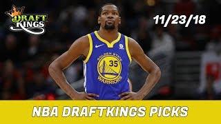 11/23/18 NBA DraftKings Picks - Money Six