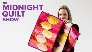 QUILT AS YOU GO Placemats for a Midnight Quilt Show DINNER PARTY with Angela Walters