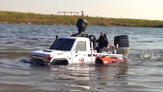 RC ADVENTURES - 12lb TOYBOTA TRUCK BOAT CHALLENGE - PT 2 - BBC TOP GEAR TRIBUTE BUiLD