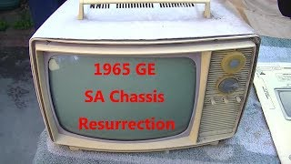 1965 GE black and white portable Resurrection