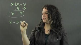 How to Solve Algebra Equations Using Inverse Operations : Measurements & Other Math Calculations