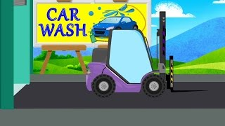 Forklift Wash Video For Kids | Car Wash | Videos For Baby & Toddlers