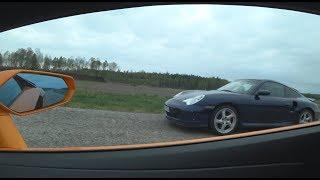 740 HP Lamborghini Aventador S vs 580 HP Porsche 996 Turbo X50 ECU + Klein exhaust [4k]