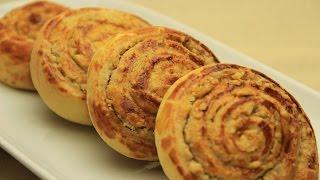 Tahinli Cevizli Çörek Tarifi - Rulo Şeklinde Tatlı Kurabiye Çörek