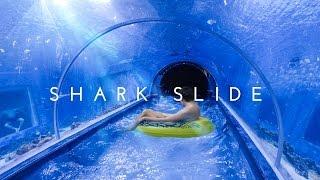 Awesome SHARK SLIDE at Aquapark Reda, Poland (POV)