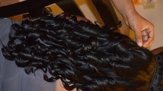 Big Sexy bouncy curls with flat iron ♥ Versatile sew in