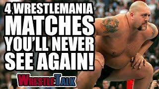 4 WWE WrestleMania Matches You'll Never See Again!