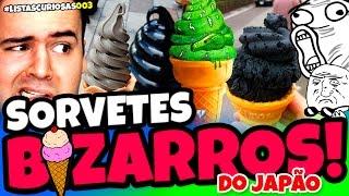 10 SORVETES EXTREMAMENTE BIZARROS DO JAPÃO
