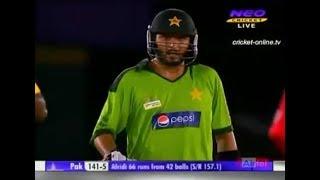 Shahid Afridi Blistering Hundred vs Sri Lanka Asia Cup 2010 Hd