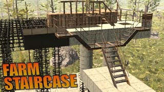 FARM STAIRCASE   7 Days to Die   Let's Play Gameplay Alpha 16   S16.4E56