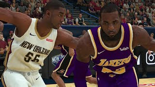 NBA 2K19 Los Angeles Lakers vs New Orleans Pelicans | NBA 2K19 PS4 Pro Gameplay