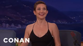 Kate Hudson Briefly Dated A 6-Foot-9 Celibate Football Player  - CONAN on TBS