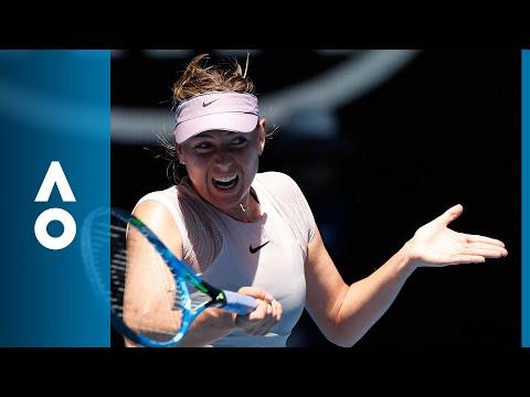 Maria Sharapova v Anastasija Sevastova match highlights (2R)   Australian Open 2018