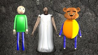 Granny vs Baldi vs Freddy Vs Cupheadfunny animation part 55