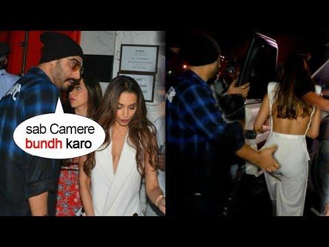 Arjun Kapoor & Girlfriend Malaika Arora Run Away From Media' When Seen TOGETHER On Dinner Date