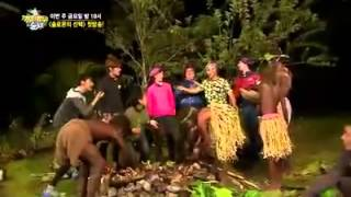 EXO's Tao afraid of cat on Law of The Jungle Ep