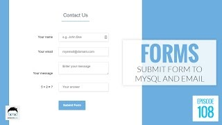 Submit an Online HTML Form to Both MySQL and Email Using PHP