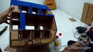 Como fazer um mini paredão de papelão passo a passo completo parte (2de4)