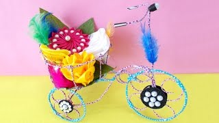 DIY Project Ideas : How to Make Decorative Tricycle | Kids Craft Ideas