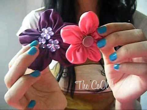 Flores de tela super fácil