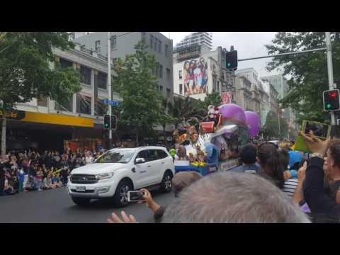 Farmers Santa Parade 2016, Auckland, Nz- Santa Claus Arrives Finale