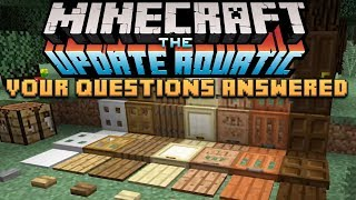 Minecraft The Update Aquatic: Your Questions Answered - More Slabs, Buttons & Trapdoors!
